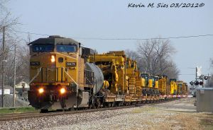 UP 6679 leads Catipillar Special Train by EternalFlame1891