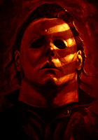 Michael Myers Portrait by SamRAW08