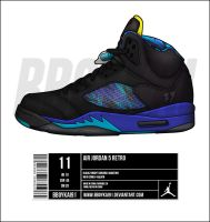 "Air Jordan 5 ""Aqua"" Remake by BBoyKai91"