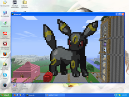 MineCraft Art - Umbreon by SqueakyTachibana