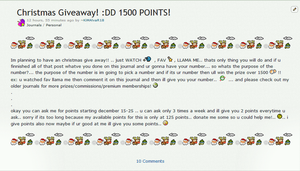 CHRISTMAS GIVEAWAY 1500 POINTS!! by KiMAlvaR18