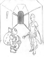 Dungeon keeper 1 -  Fairy and Imp - sketch by archelaian