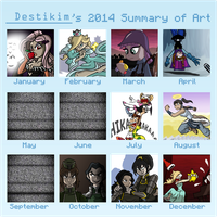 Destikim's 2014 Art Summary by Niban-Destikim