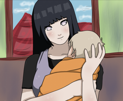 Hinata and Kushinada - Colored by DoctorMLoli