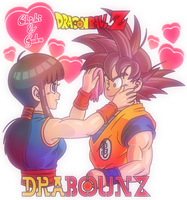 Goku and Chichi by DrabounZ