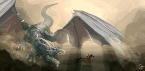 Dragon Attack by BadLuckArt