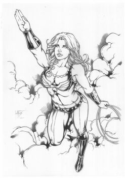 Wonder Girl by JonnydelaFuente