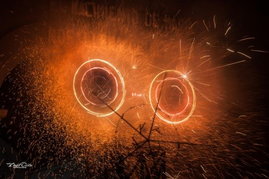 Rolling Fireworks by DraconPhotography
