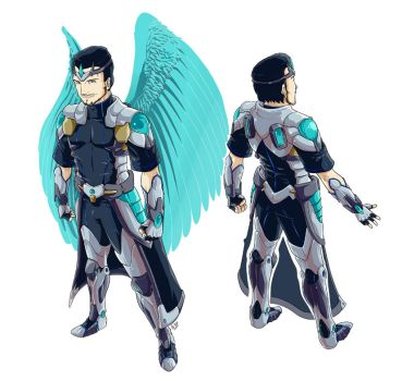 COMM: Elite Angels - Mike-E Armor by PeaceGuy