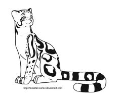 Free Lineart - Clouded Leopard by FerasFall-Comic
