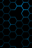 blue hexagon by slow240