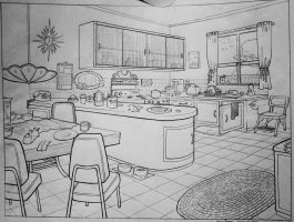 School Work - Kitchen Layout by starinthegutter