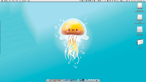 Happy Jellyfish Desktop by andyhutchinson