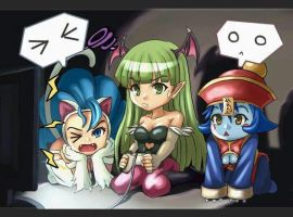 Darkstalkers playing PS1 by DragonKnightGamer
