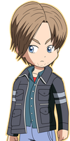 RE6 - Leon S. Kennedy =CHIBI= by Krizeii