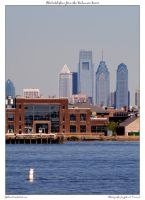 Philadelphia from the Delaware by yellowcaseartist
