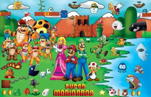Super Mario Brothers poster by Liquidnightshade