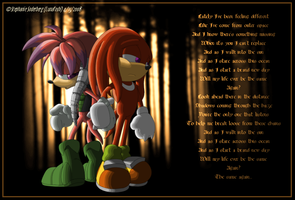 Sonic: Knux+Julie-Su against all odds by LuLuLunaBuna