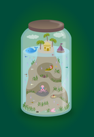 Tropical Jar by wildgica