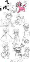 Sketch dump of things by Siro-Cyl