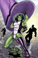 Harpokrates' She-Hulk - Colors by StacyRaven