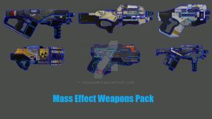 Mass Effect Weapons pack by Joshsonic8