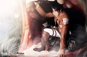 Attack on Titan Cosplay I am gonna die here? by yukigodbless
