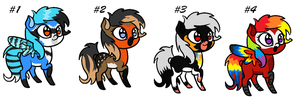 Pony Adopts 4-BIRD THEMED-OPEN by TinyWolfy