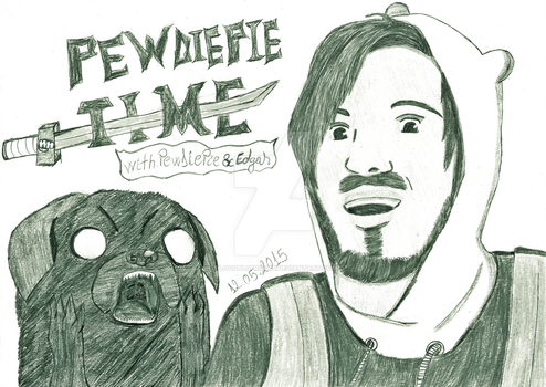 PewDiePie Time black and white version by bloodplusrocks