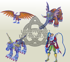 Some Future Digimon Papercrafts I'm Planning To Do by HellswordPapercraft