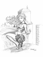 Supergirl allure pencil by cehnot