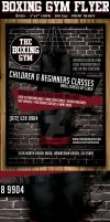 Boxing Gym Flyer Template by Hotpindesigns