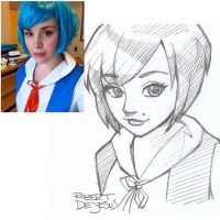Rei Ayanami Sketch by Banzchan