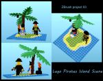 Legoislandscene by sculptwerks