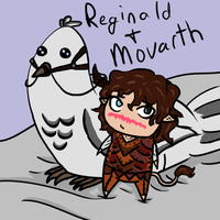 Reginald the Bird and Movarth the Brownie by Taryndedoo