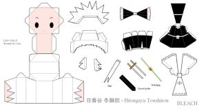 BLEACH PaperCraft - Hitsugaya Toshiro by Larry-San