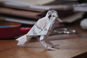 Pidgey Origami by thanxforthefish