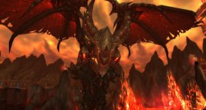 WoW - Mount Hyjal - Deathwing by byorrsingyr