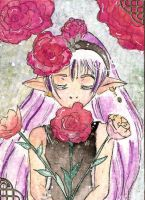 Aceo 015- enchanting roses by Kaitourose