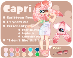 Splatoon OC: Capri by TheHumanHeart