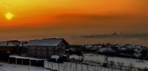 Sunset over Cluj 2 by dgheban