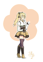 Satou Lilly as Tomoe Mami - Closed Eyes by MikeAngel05