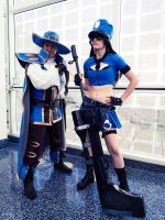 Musketeer Twisted Fate and Officer Caitlyn Cosplay by SNTP