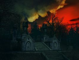 Haunted house background 15 by indigodeep