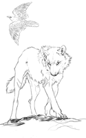 WIP:windspeaker-wolf Commish by WhiteSpiritWolf