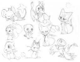 POKEMONS -indecision- by Lynxclaw