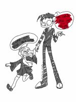 Lenore and Johnny by lovegosarownd
