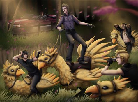 Chocobros by Black-Chimaera