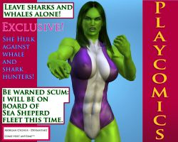 She-hulk:pro whales and sharks by MorganCygnus