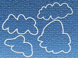 Cartoon Clouds Brush pack by mogalful
